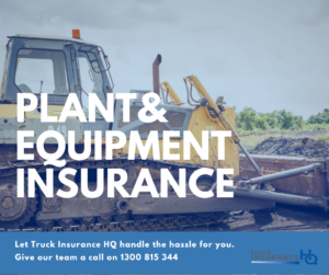Plant & Equipment Insurance for All Potential Machinery Damages