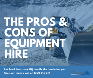 The Pros & Cons of Plant and Machinery Hire