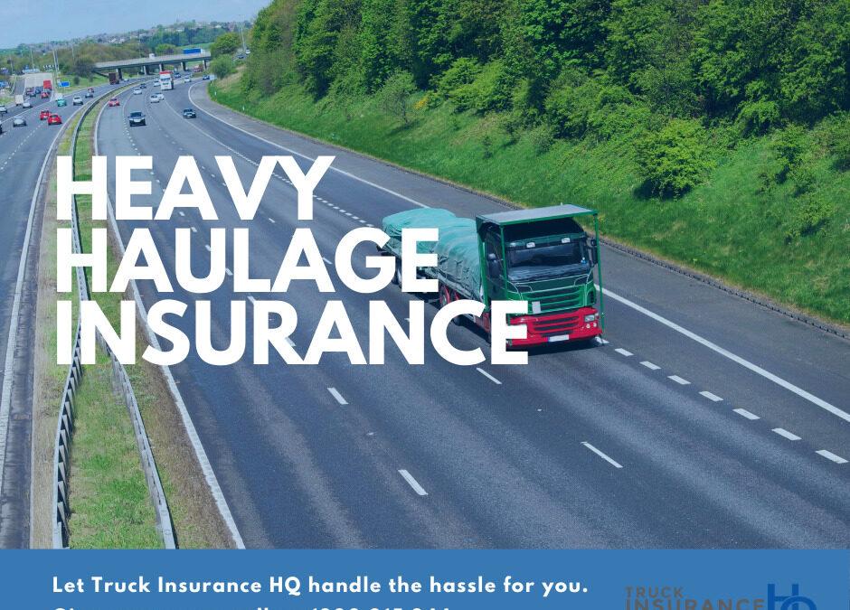 Heavy Haulage Insurance