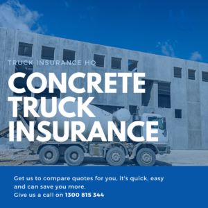 Concrete Truck Insurance cover