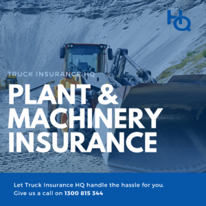 Equipment Insurance, plant insurance, machinery insurance